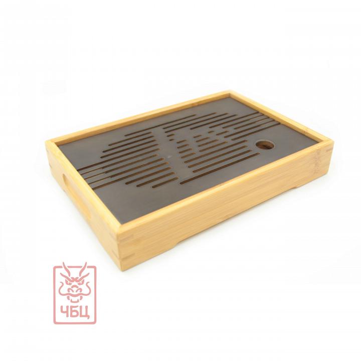 Чабань черно-белая, бамбук, 27х18х4 см