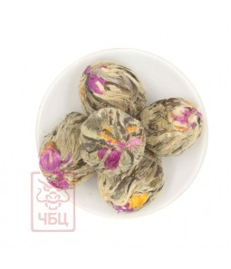 Связанный чай с цветком